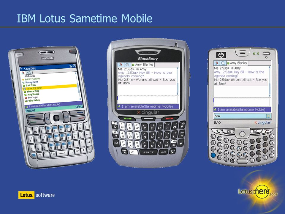 IBM Lotus Sametime Mobile