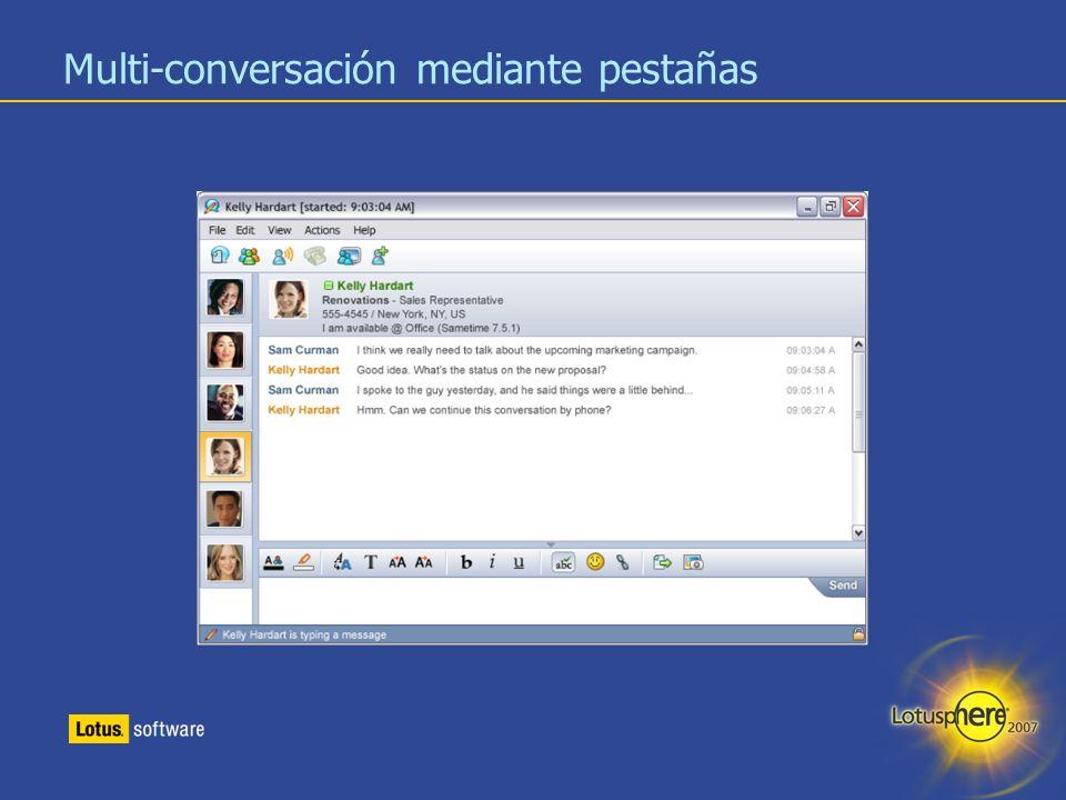 Multi-conversación mediante pestañas