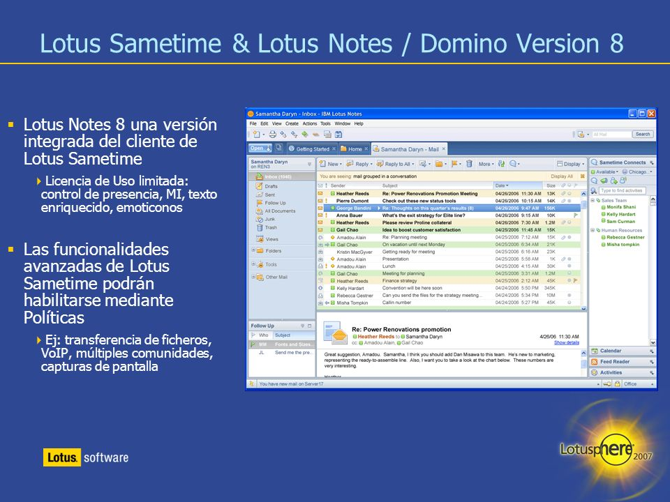 Lotus Sametime & Lotus Notes / Domino Version 8