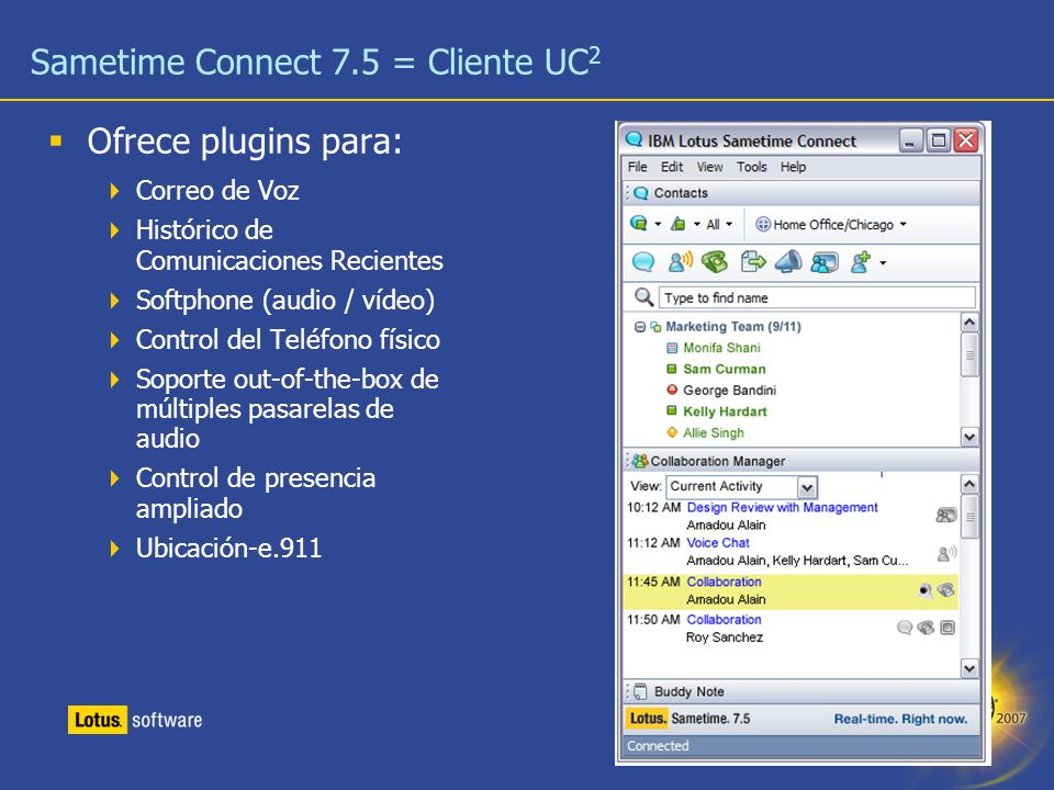 Sametime Connect 7.5 = Cliente UC2