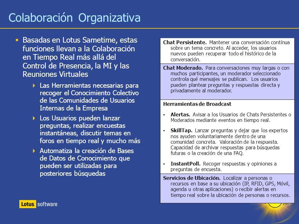 Colaboración Organizativa