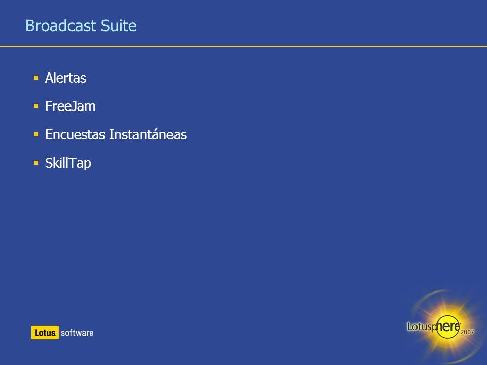 Broadcast Suite Alertas FreeJam Encuestas Instantáneas SkillTap