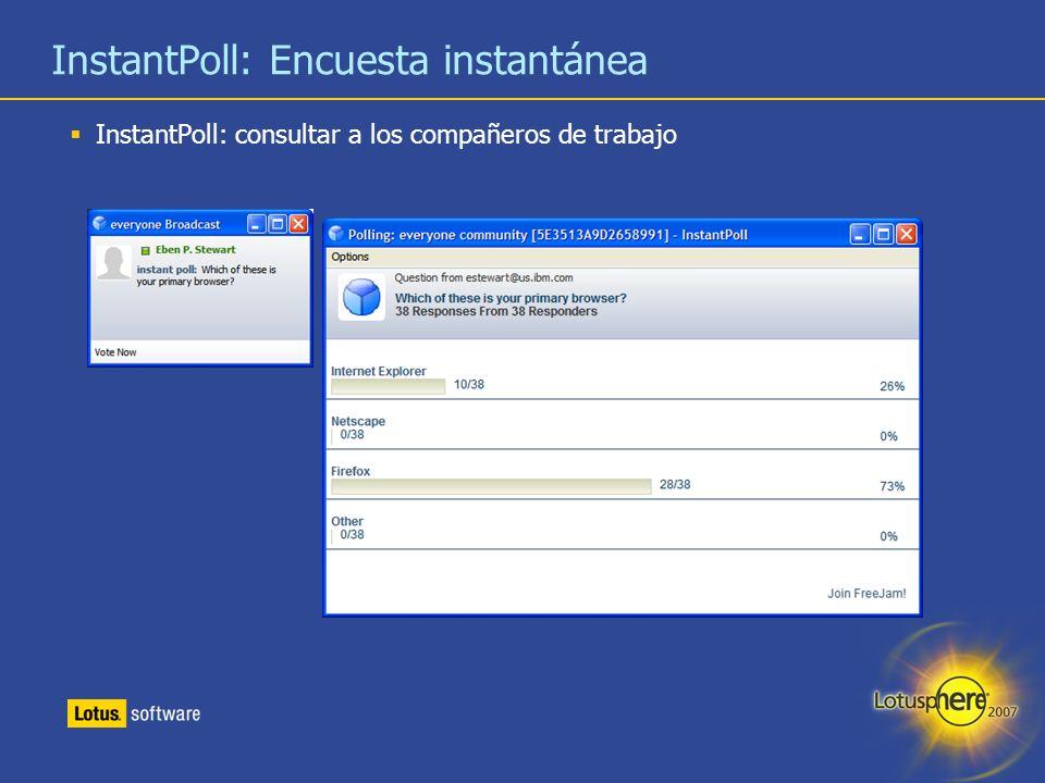 InstantPoll: Encuesta instantánea