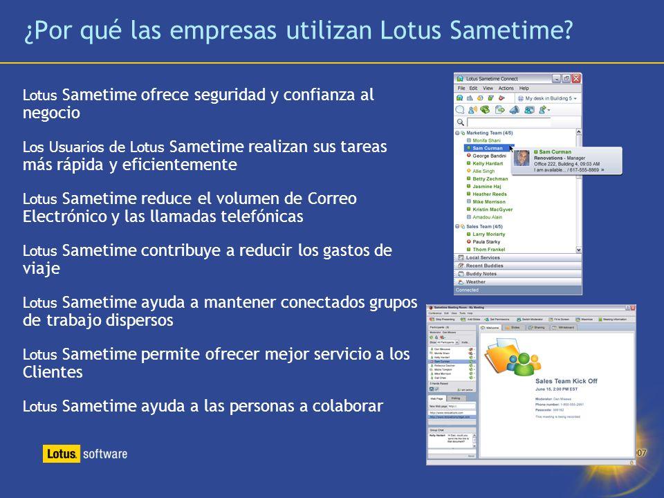 ¿Por qué las empresas utilizan Lotus Sametime