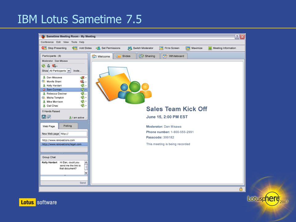 IBM Lotus Sametime 7.5