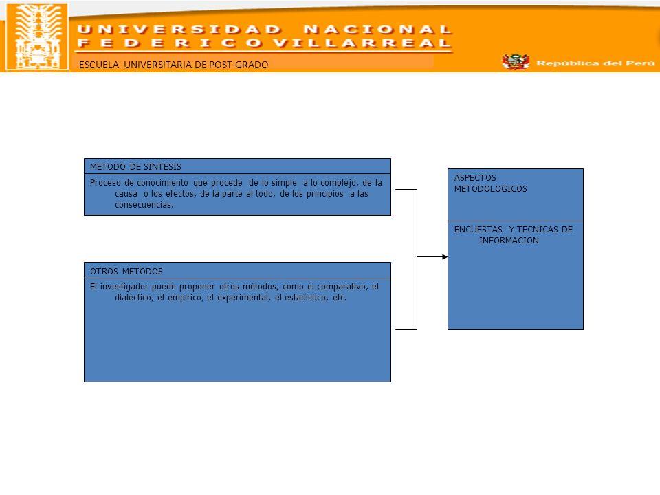 METODO DE SINTESISASPECTOS. METODOLOGICOS.