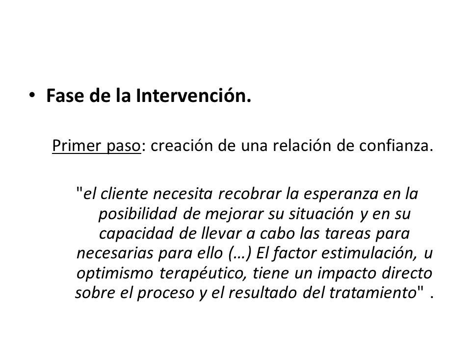 Fase de la Intervención.
