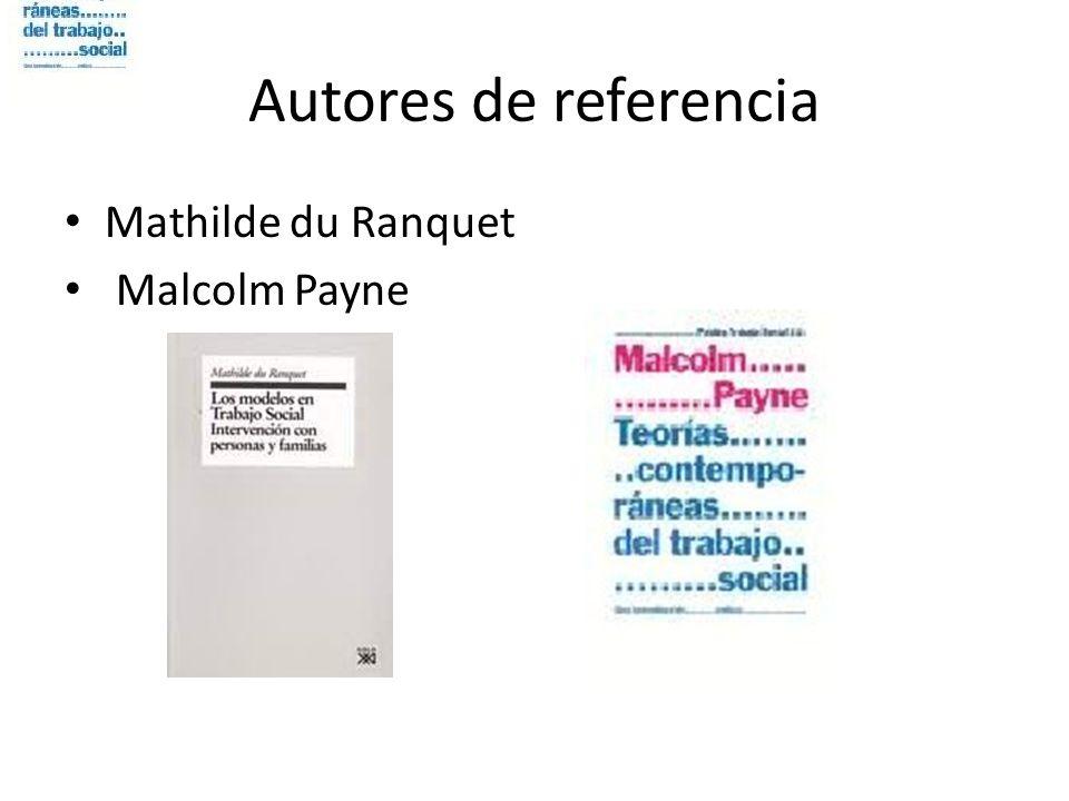 Autores de referencia Mathilde du Ranquet Malcolm Payne