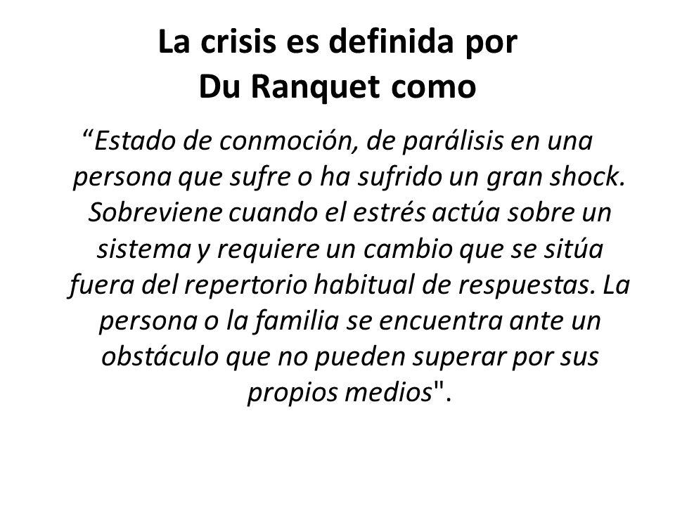 La crisis es definida por Du Ranquet como