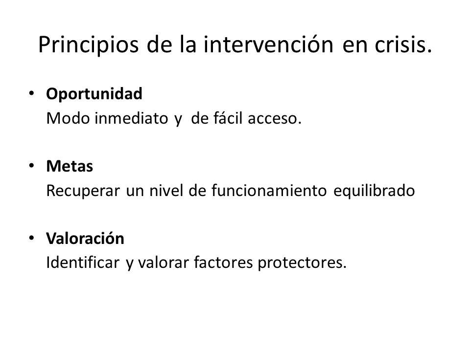 Principios de la intervención en crisis.