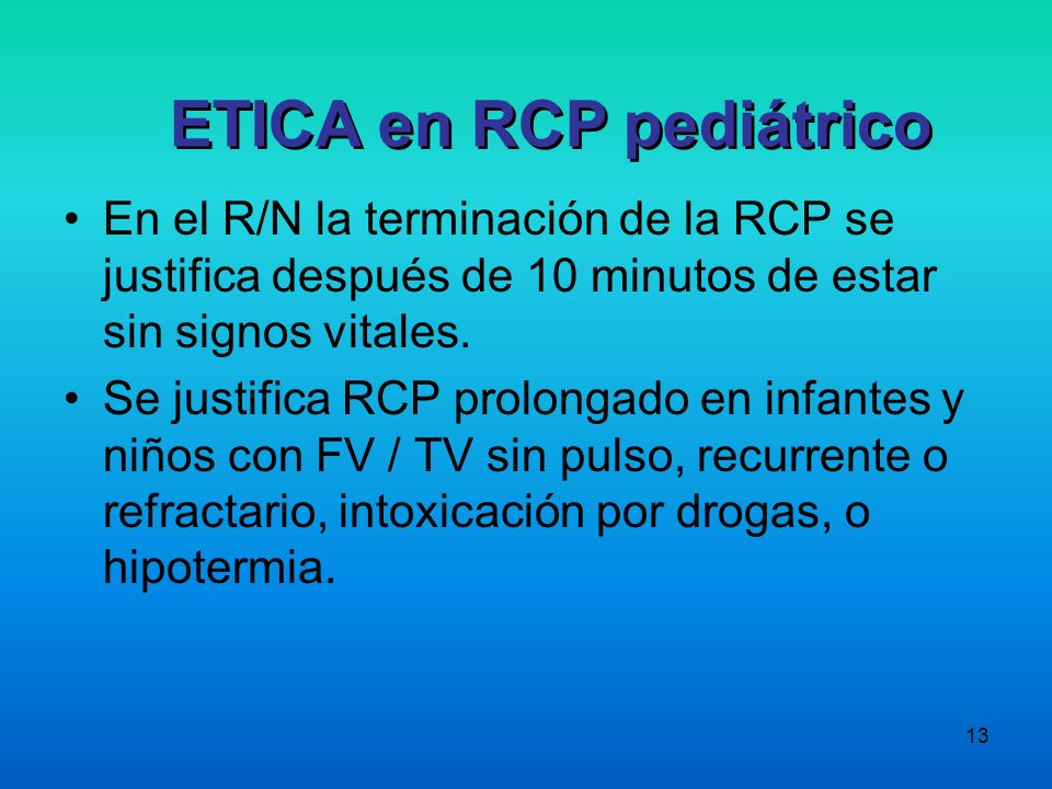 ETICA en RCP pediátrico