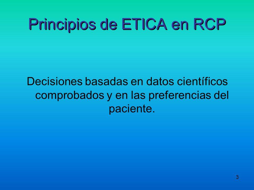 Principios de ETICA en RCP