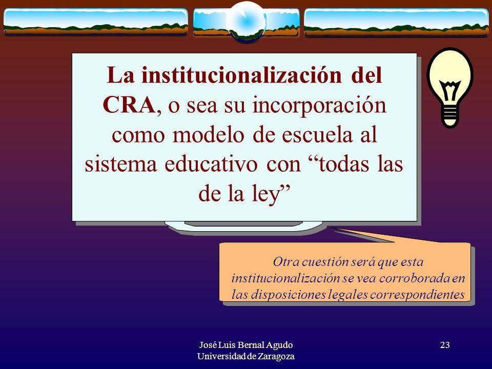 José Luis Bernal Agudo Universidad de Zaragoza