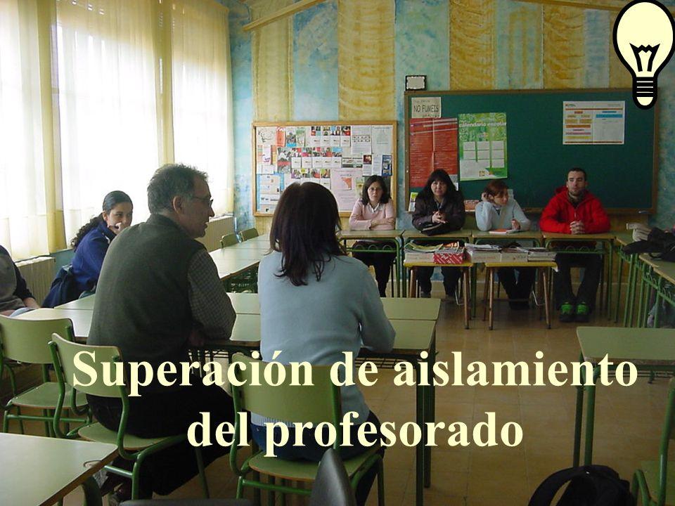 Superación de aislamiento del profesorado