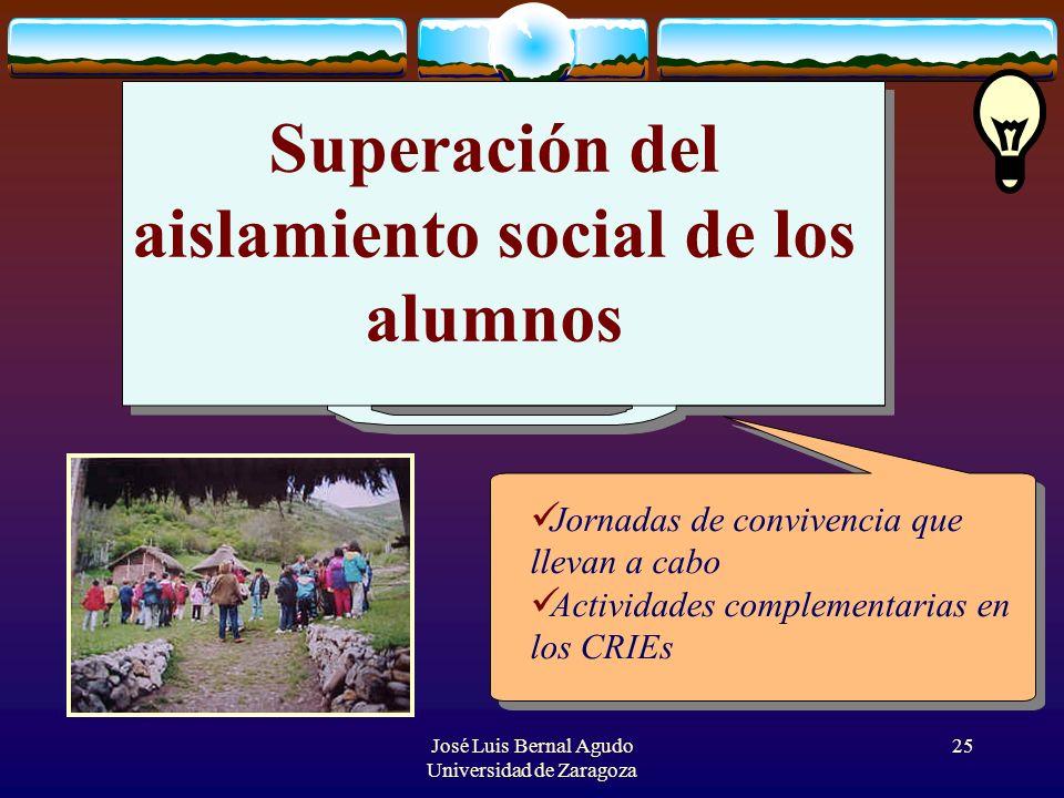 Superación del aislamiento social de los alumnos