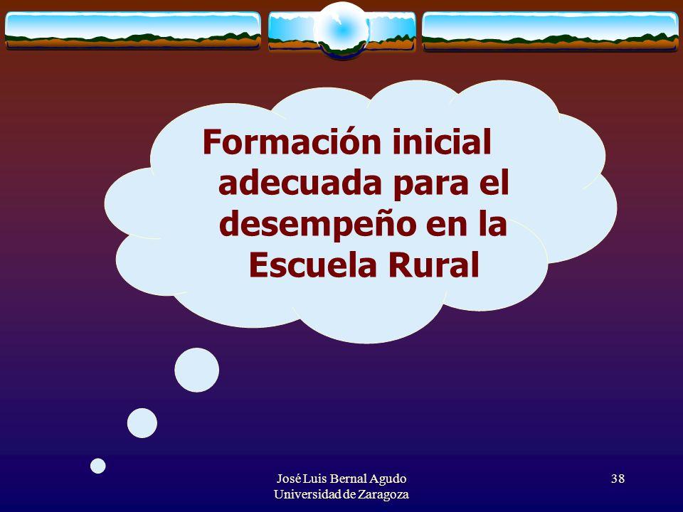 Formación inicial adecuada para el desempeño en la Escuela Rural