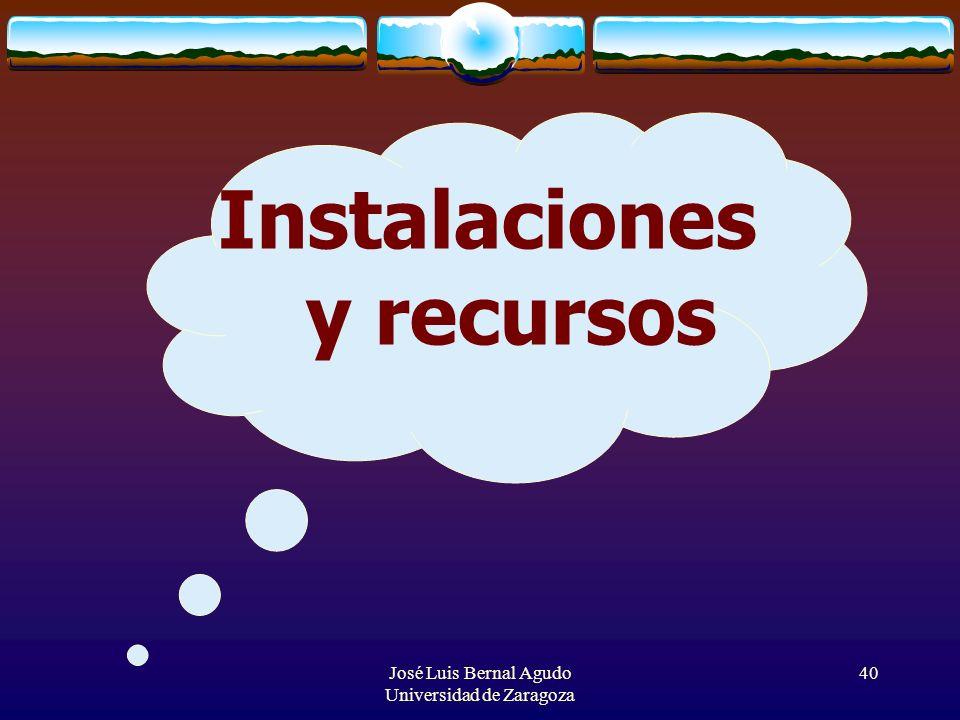 Instalaciones y recursos