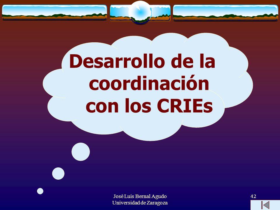 Desarrollo de la coordinación con los CRIEs