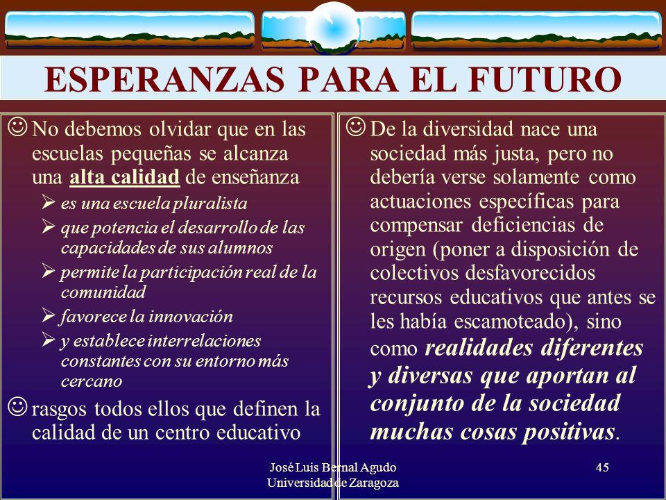 ESPERANZAS PARA EL FUTURO