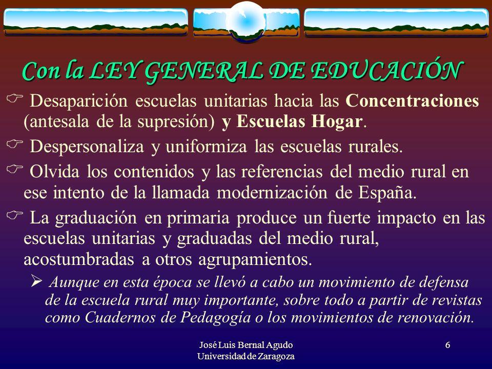Con la LEY GENERAL DE EDUCACIÓN