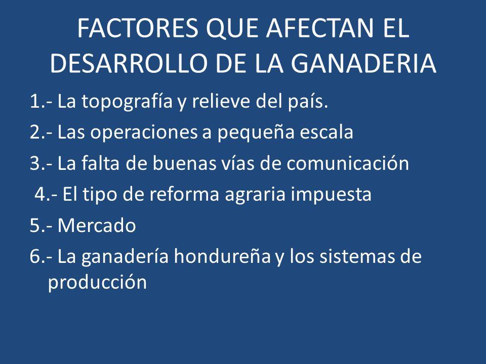 FACTORES QUE AFECTAN EL DESARROLLO DE LA GANADERIA