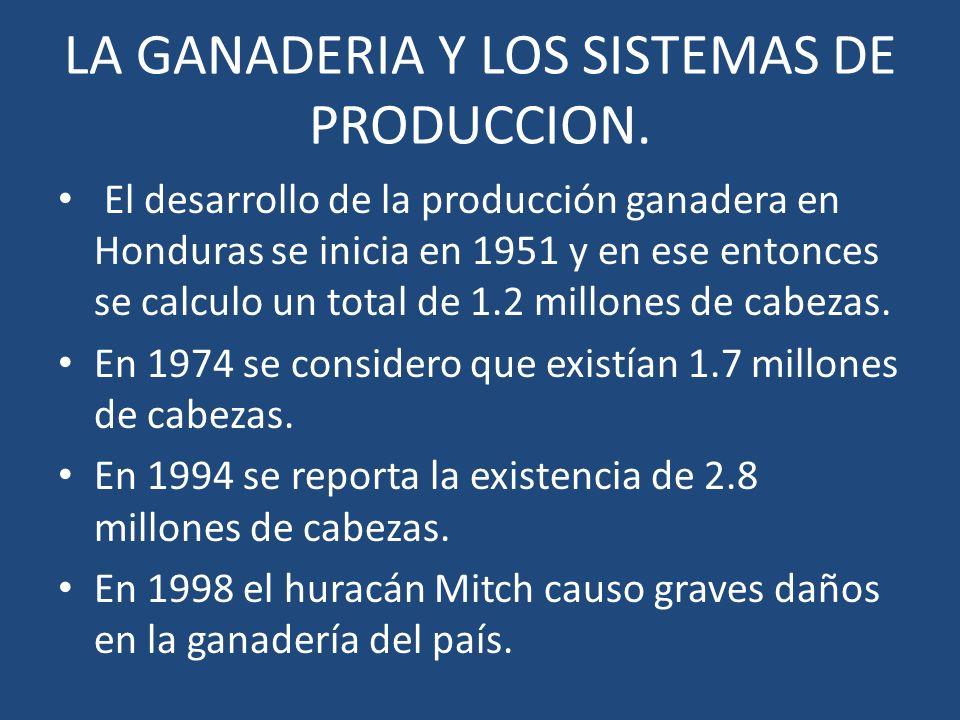 LA GANADERIA Y LOS SISTEMAS DE PRODUCCION.