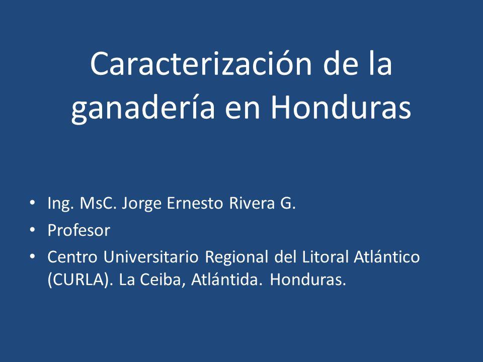 Caracterización de la ganadería en Honduras