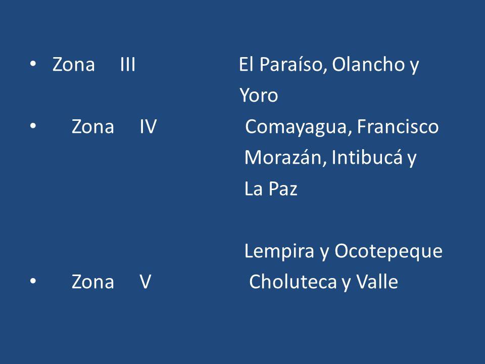 Zona III El Paraíso, Olancho y