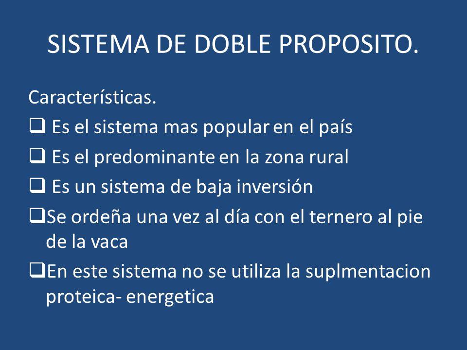 SISTEMA DE DOBLE PROPOSITO.