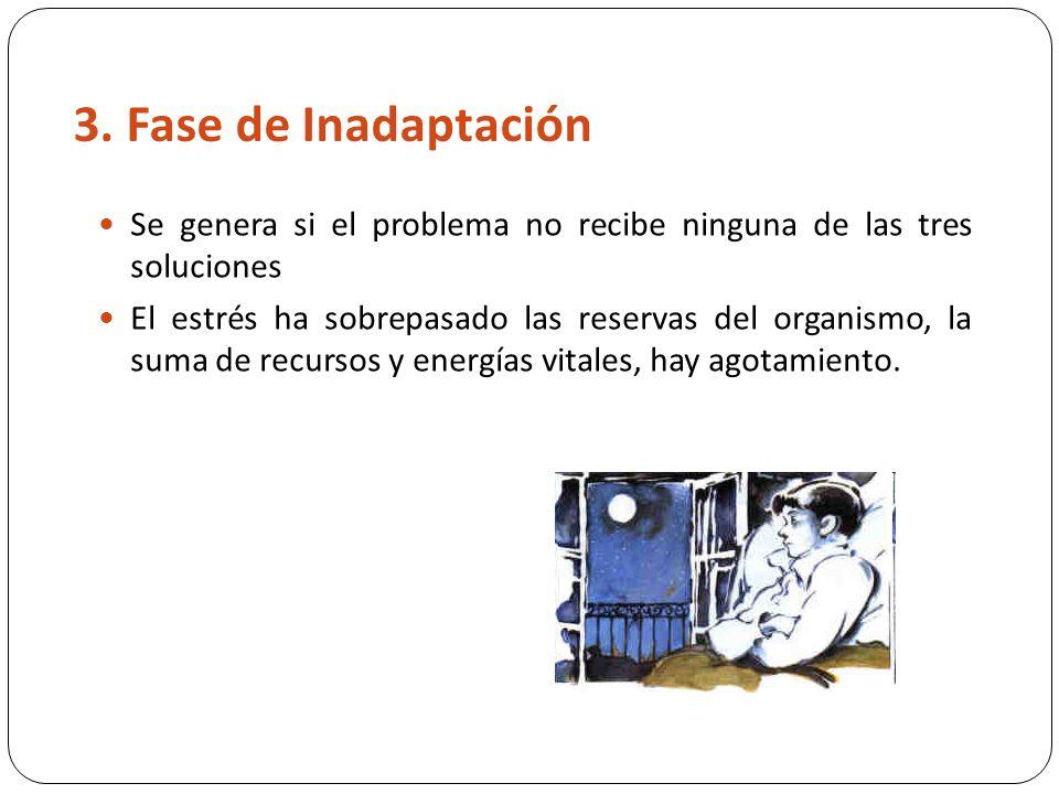 3. Fase de Inadaptación Se genera si el problema no recibe ninguna de las tres soluciones.
