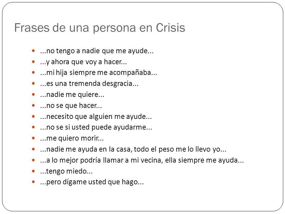 Frases de una persona en Crisis