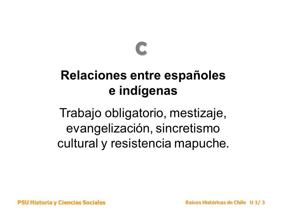 Relaciones entre españoles e indígenas