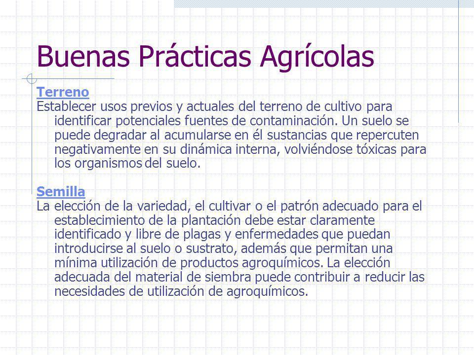 Buenas Prácticas Agrícolas