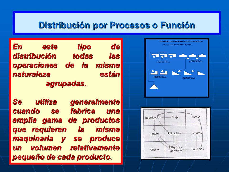 Distribución por Procesos o Función