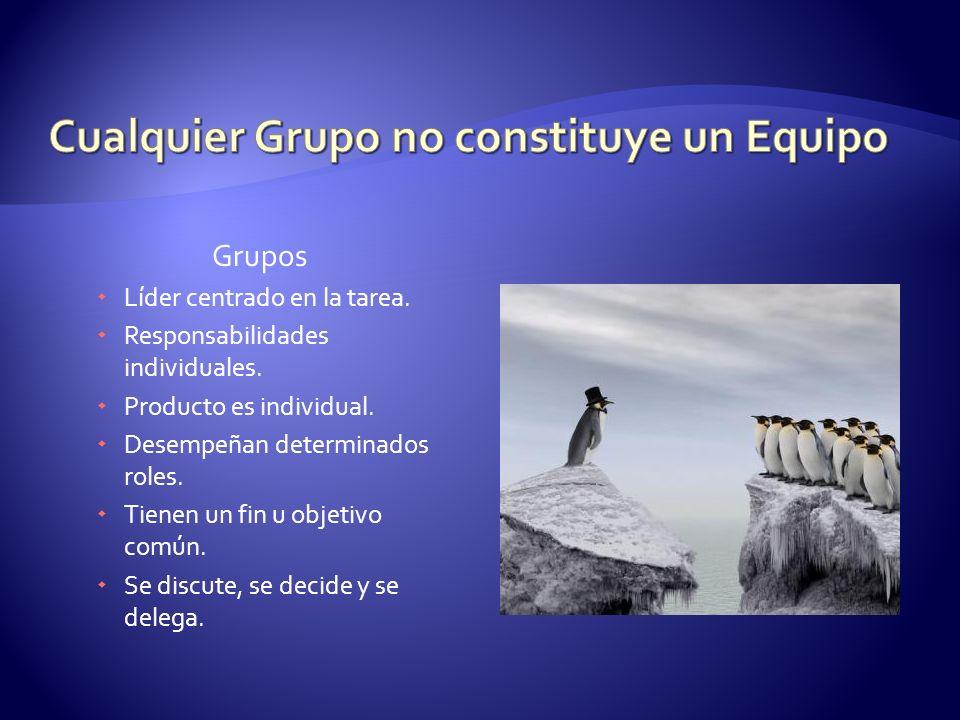 Cualquier Grupo no constituye un Equipo