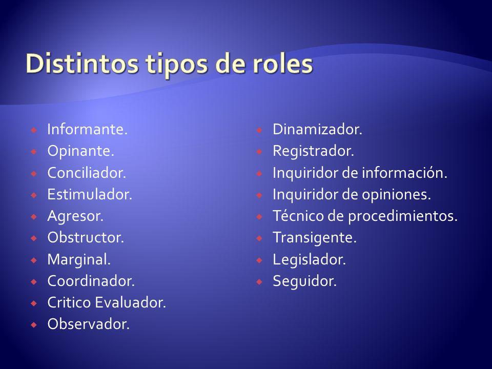 Distintos tipos de roles