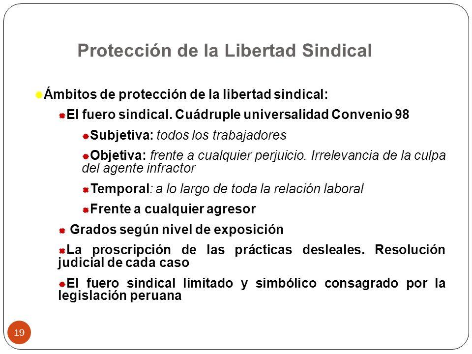 Protección de la Libertad Sindical