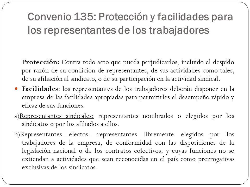 Convenio 135: Protección y facilidades para los representantes de los trabajadores