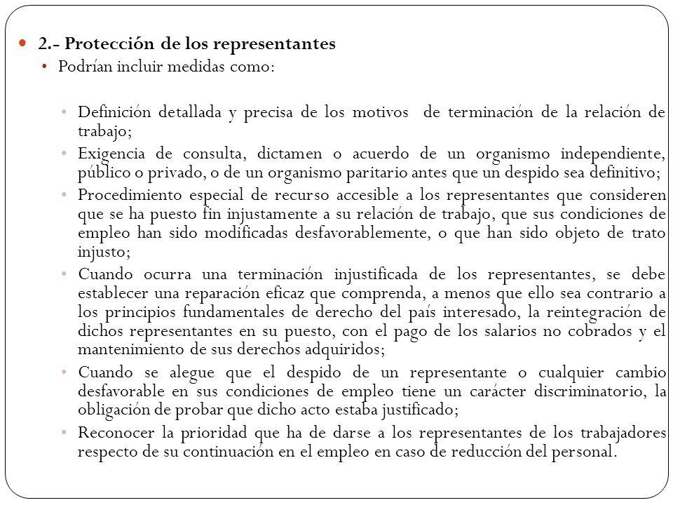 2.- Protección de los representantes