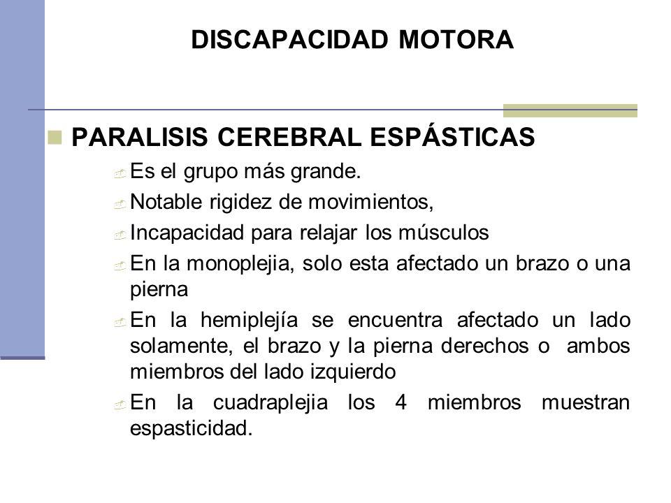 PARALISIS CEREBRAL ESPÁSTICAS