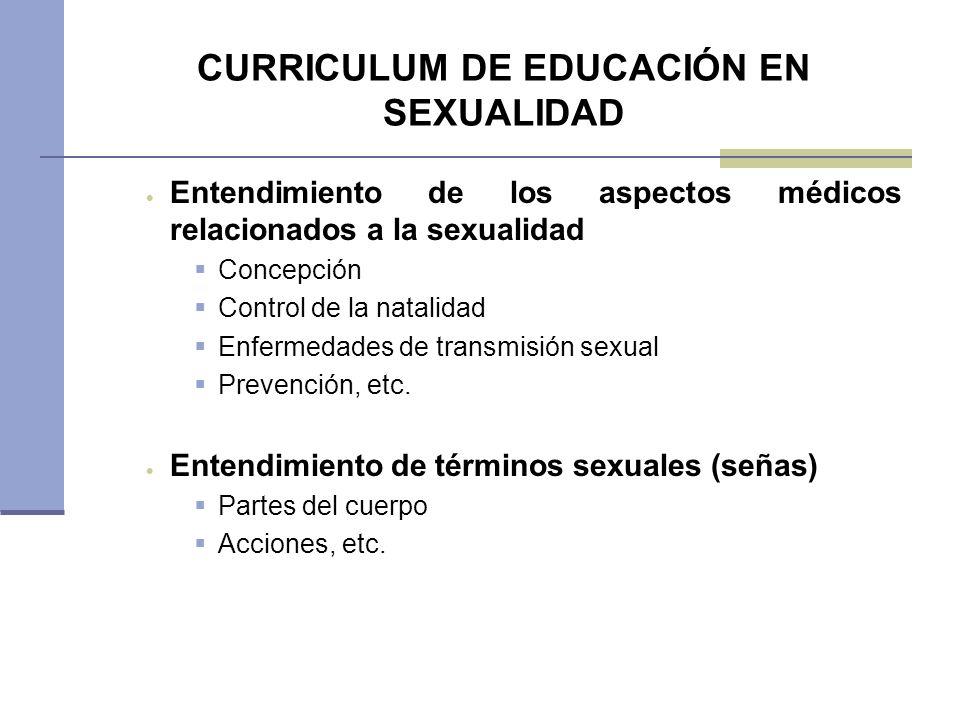 CURRICULUM DE EDUCACIÓN EN SEXUALIDAD