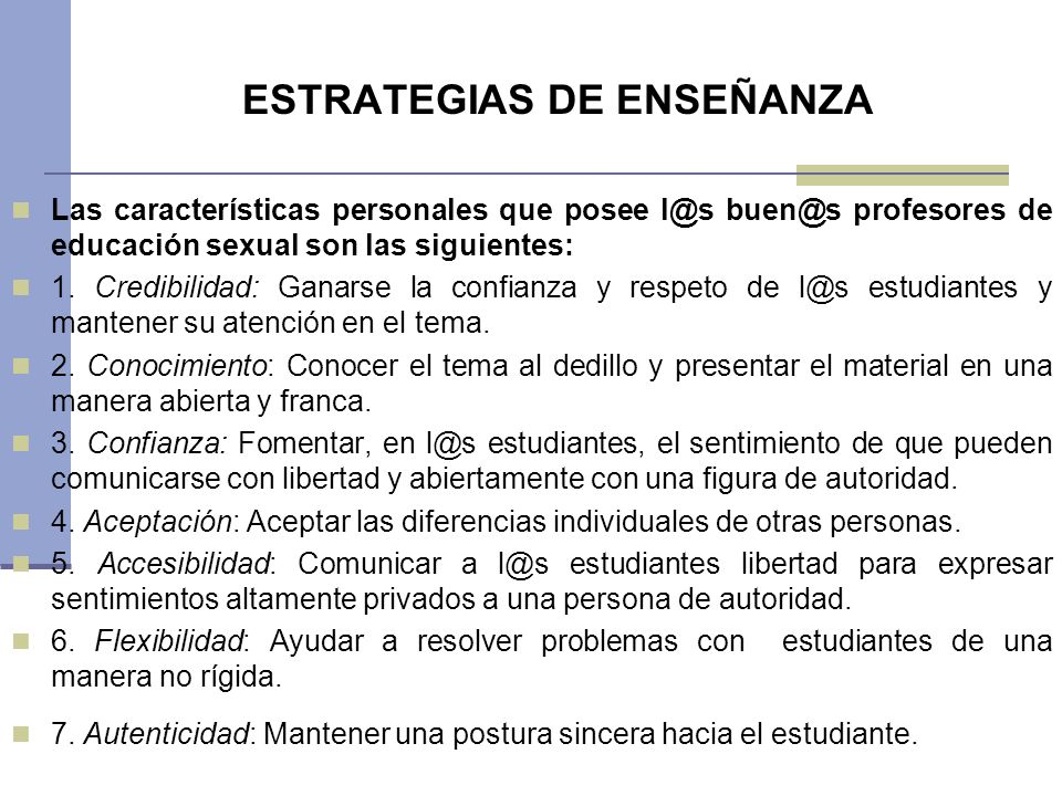 ESTRATEGIAS DE ENSEÑANZA