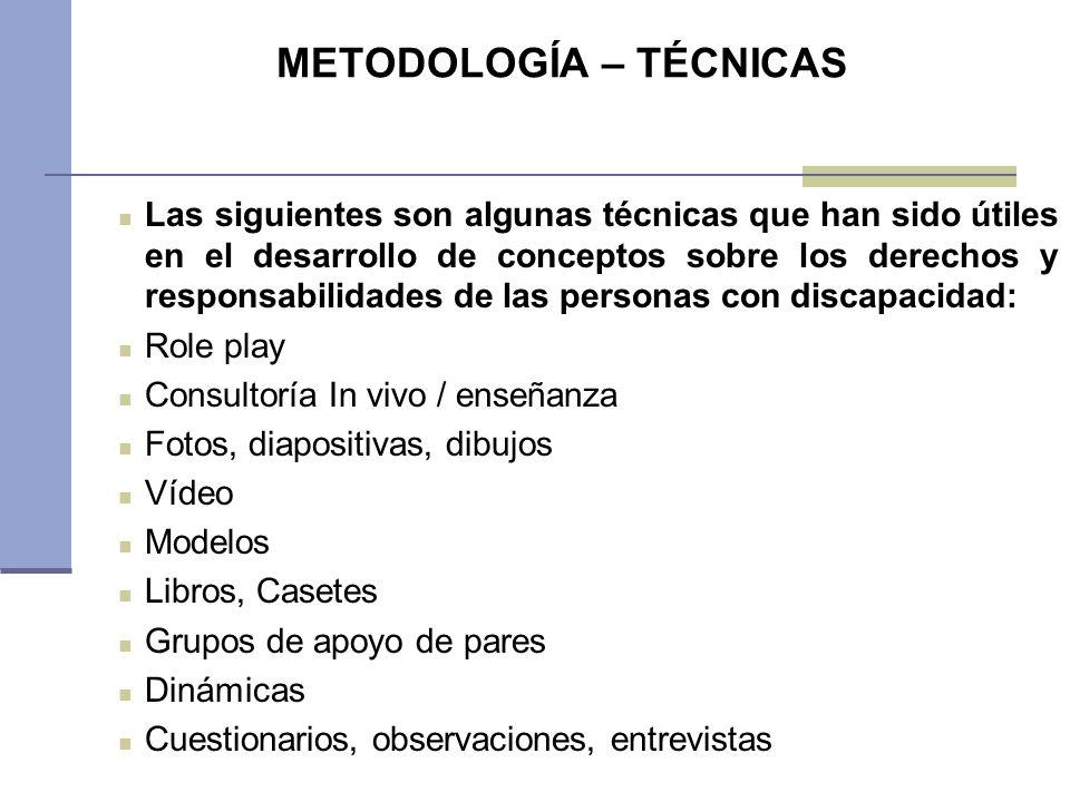 METODOLOGÍA – TÉCNICAS