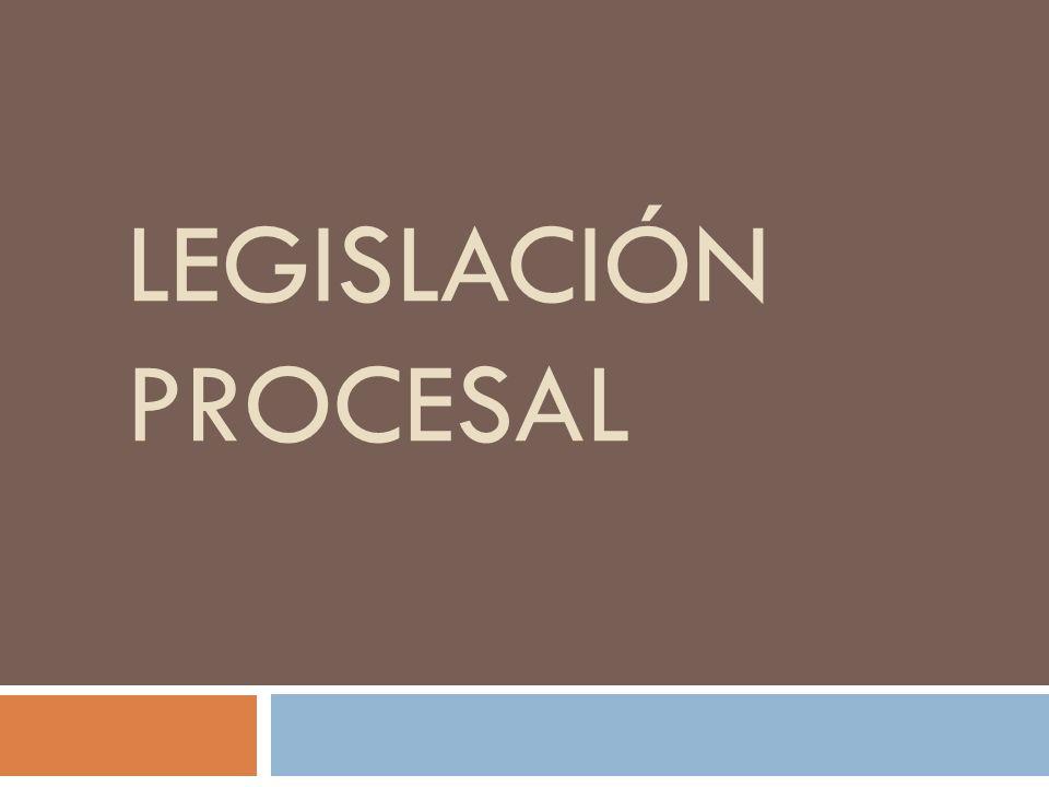 Legislación procesal