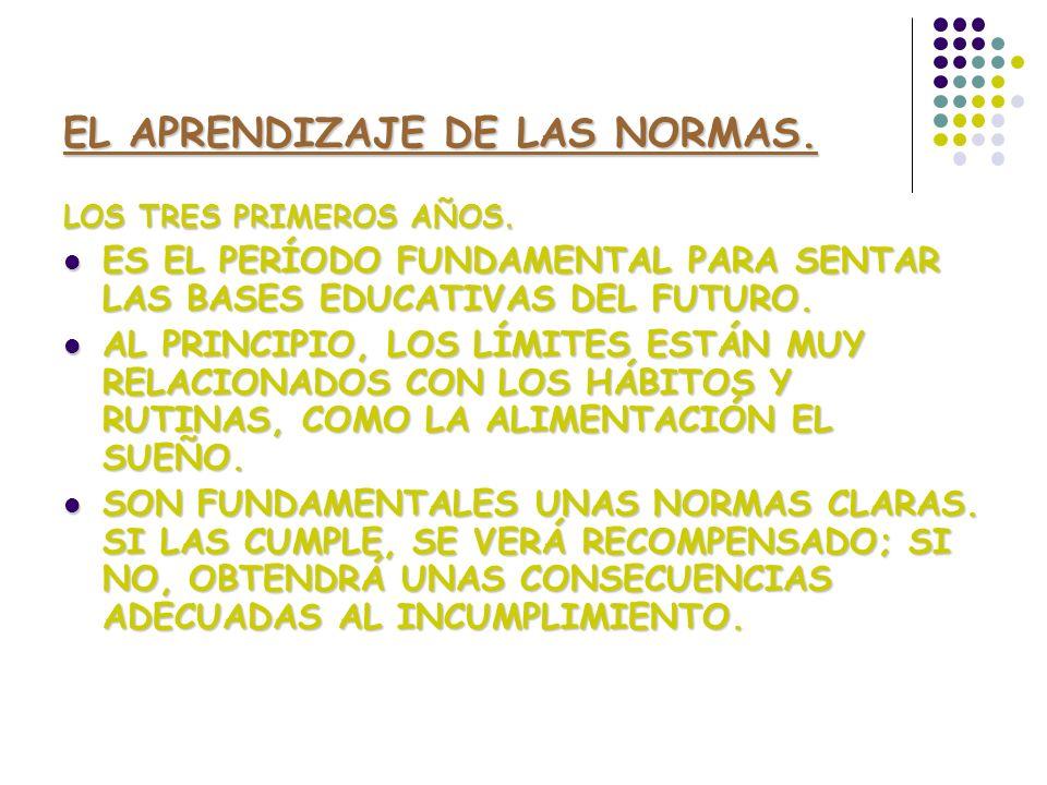 EL APRENDIZAJE DE LAS NORMAS.