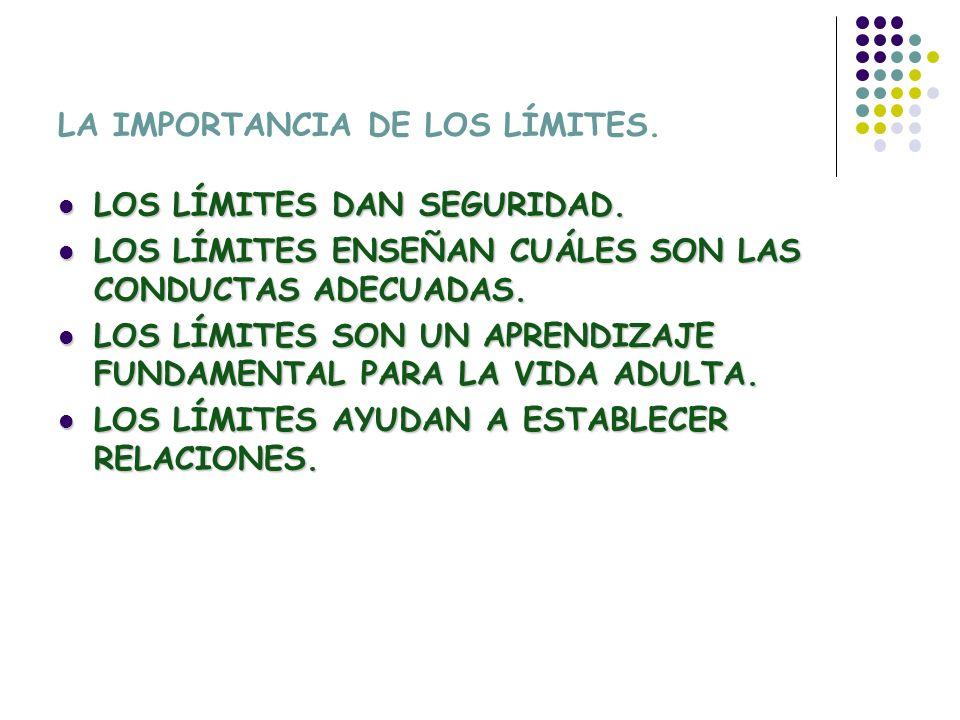 LA IMPORTANCIA DE LOS LÍMITES.