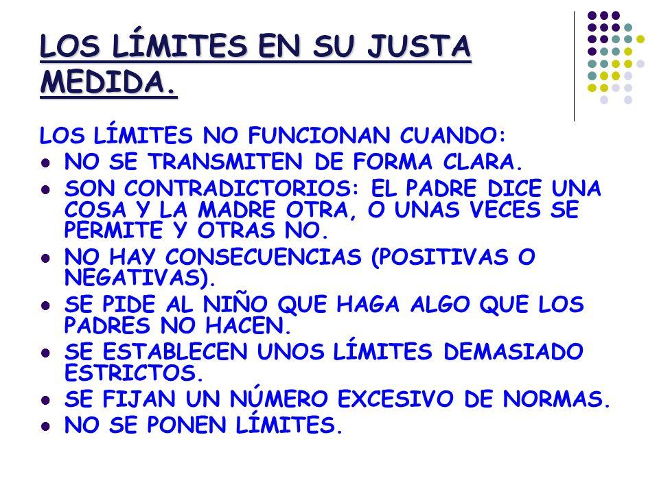 LOS LÍMITES EN SU JUSTA MEDIDA.