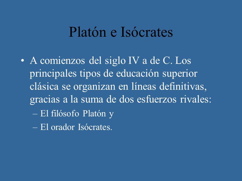 Platón e Isócrates