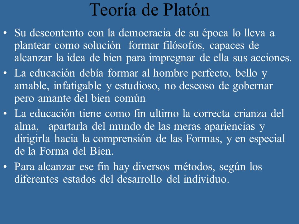 Teoría de Platón