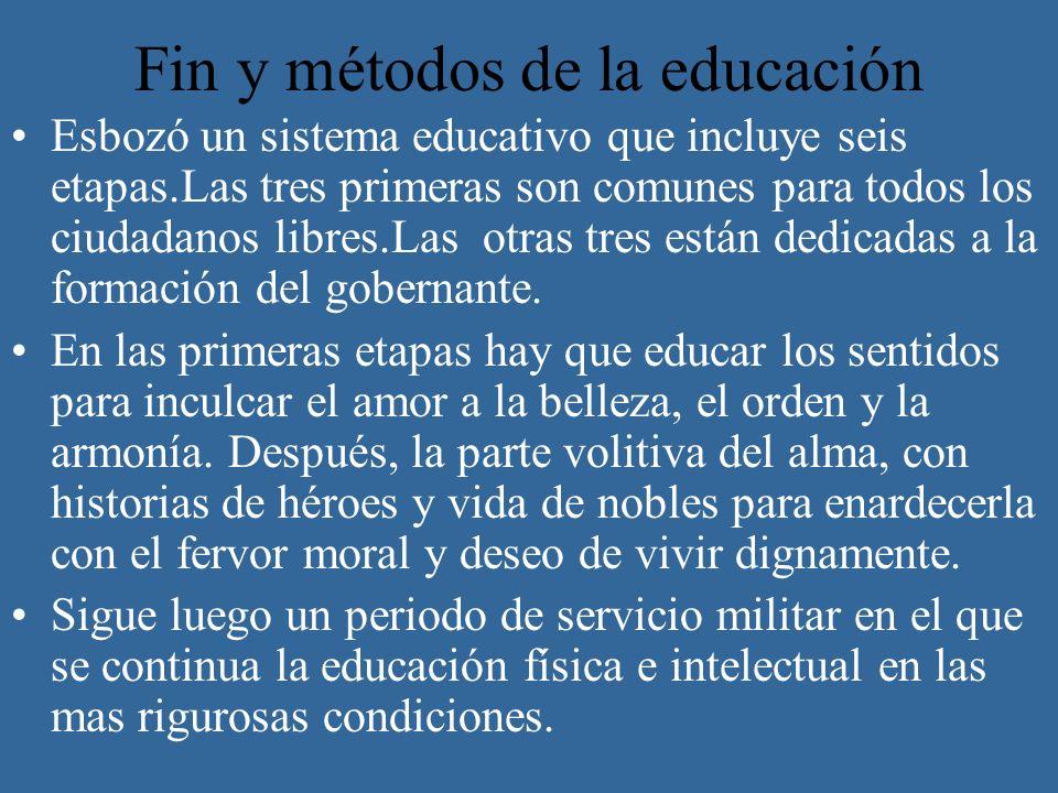 Fin y métodos de la educación